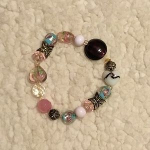 Colorful and heavy glass bracelet